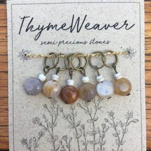 Semi-precious stone stitch markers